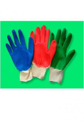 Перчатки х/б с ПВХ покрытием с одинарным обливом ладони