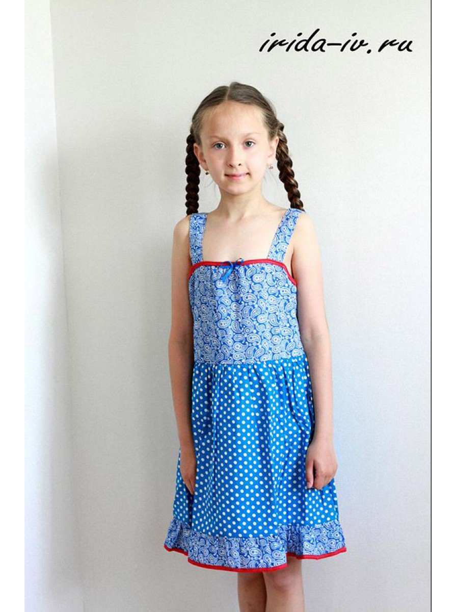 Детский летний сарафан для девочек Матрешка
