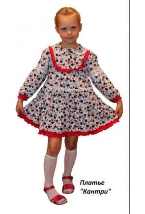 Детское платье на кокетке Кантри
