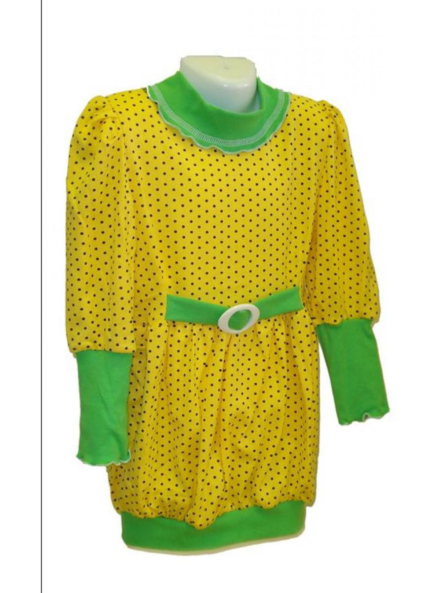 Детское платье-туника с поясом для девочек