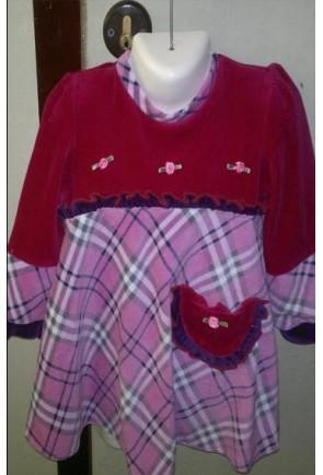 Детское велюровое платье Солнышко