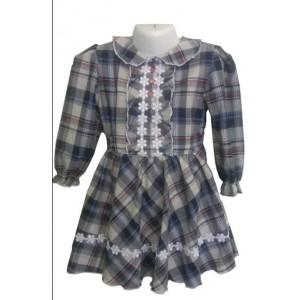 Платье детское из шотландки
