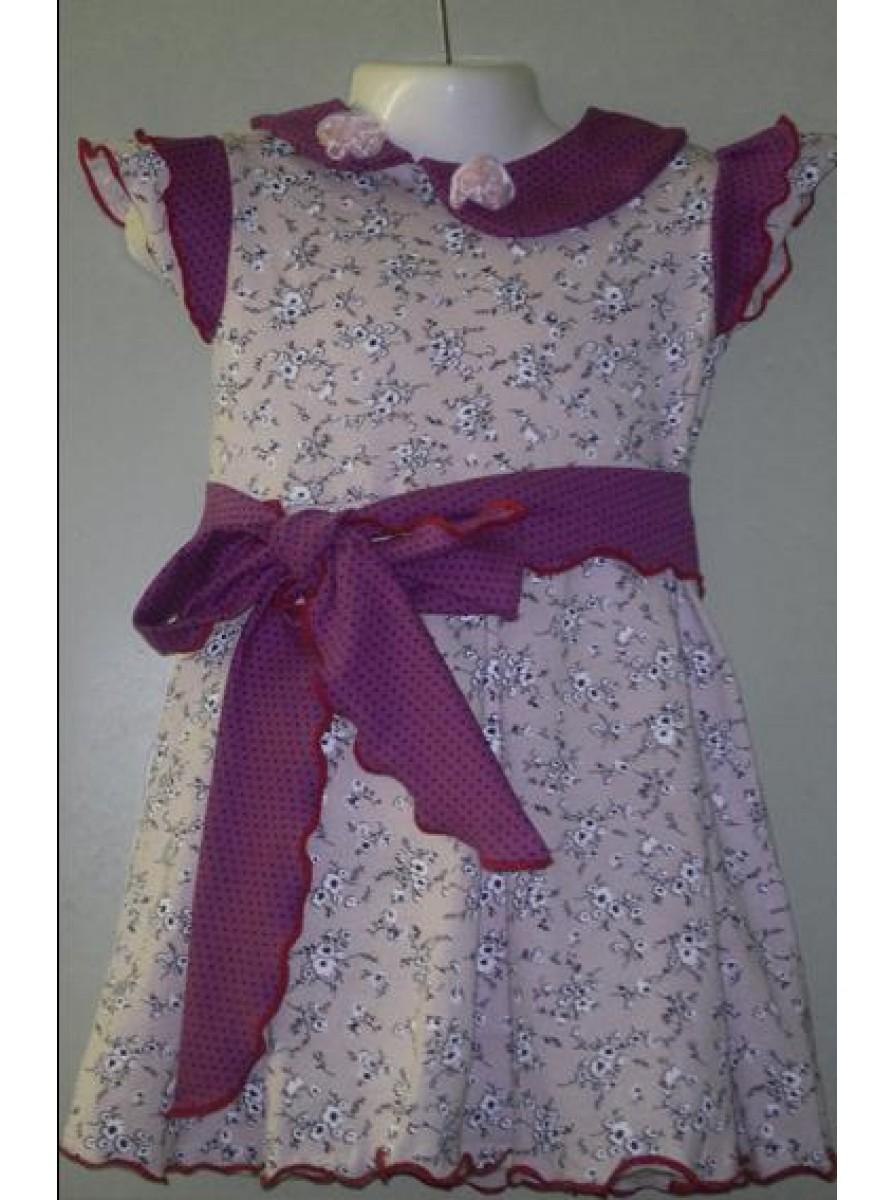 Детское платье с бантом на поясе