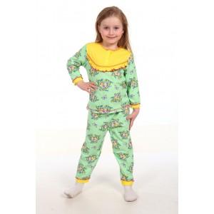 Пижама для девочки Кнопа из трикотажного кулирного полотна