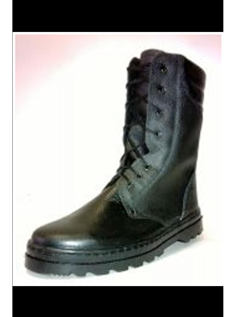 «БЕРЦЫ» ботинки юфть/кирза с мягким кантом, высота 25 см