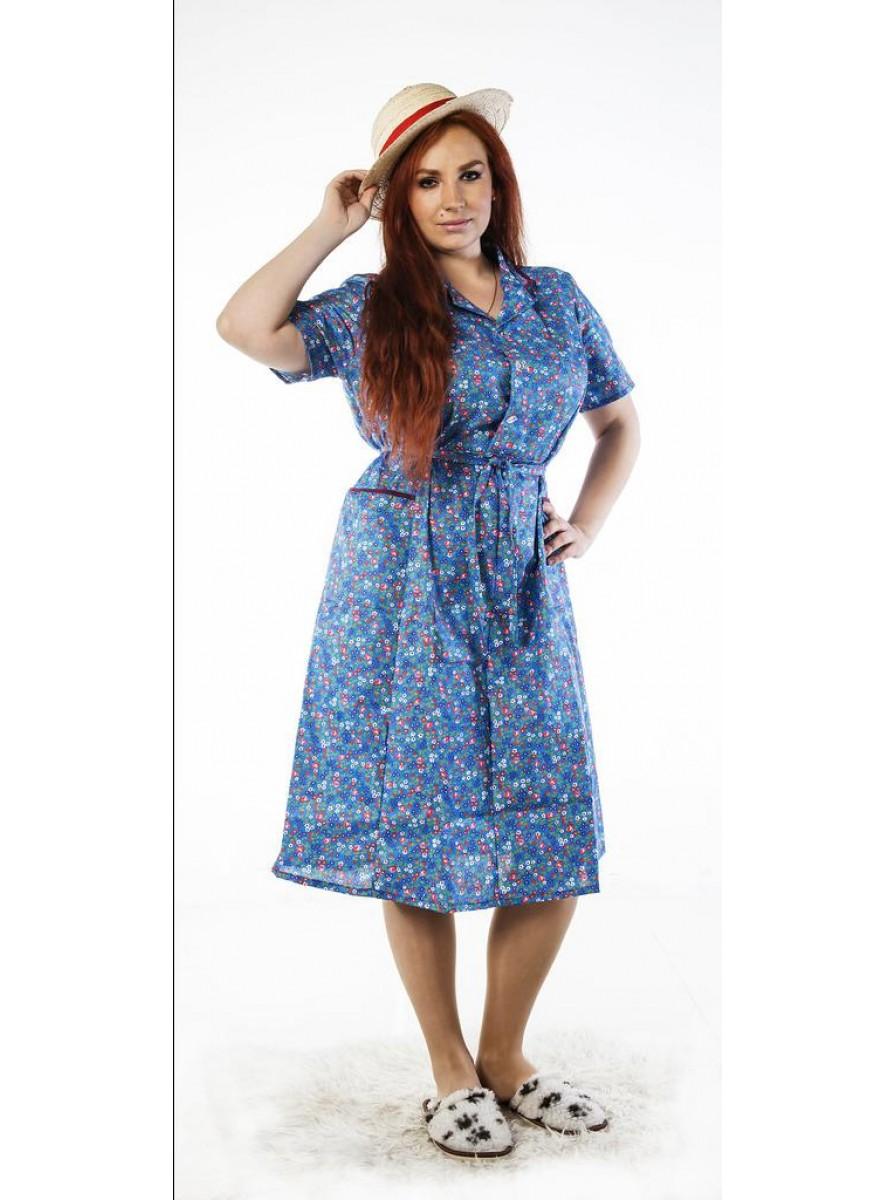 Классическое домашнее женское платье