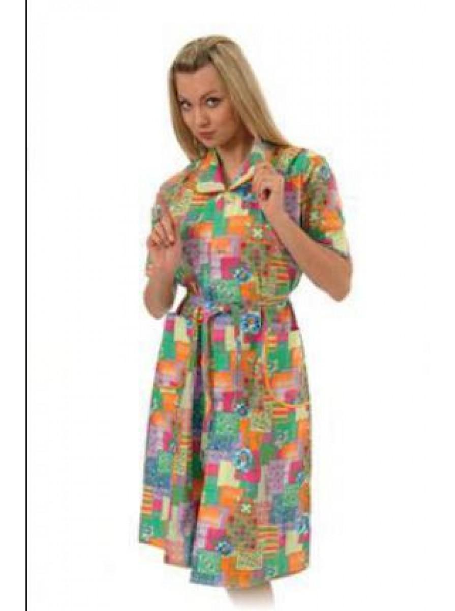 Домашний классический женский халат
