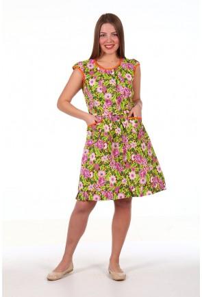Домашний халат «Туника» с оборкой