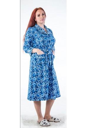 Фланелевый женский домашний халат Апаж