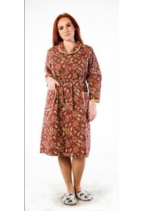 Классический женский фланелевый халат