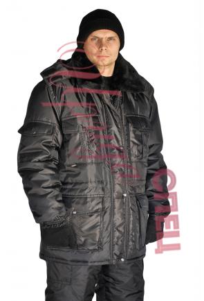 """Куртка мужская """"Охрана спец"""" зимняя черная"""