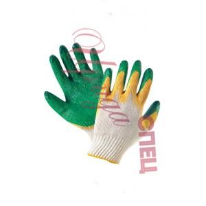 Перчатки х/б с ПВХ покрытием    с двойным обливом ладони