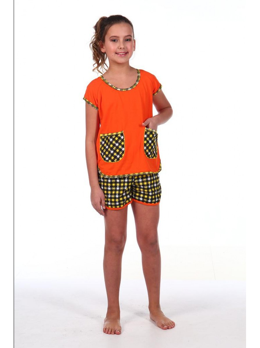Подростковая трикотажная пижама для девочек