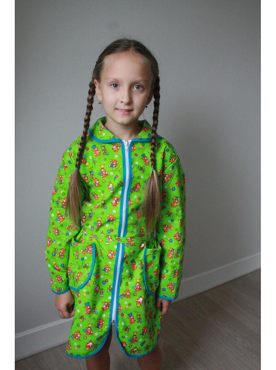 Подростковый фланелевый халат для девочек