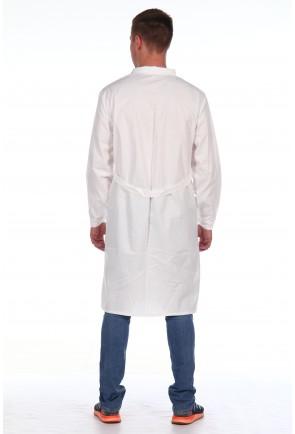 Халат мужской рабочий белый ХРМ-2