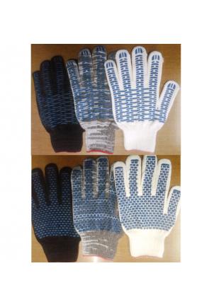 Перчатки 4н 116 текс с ПВХ (волна, кирпич)