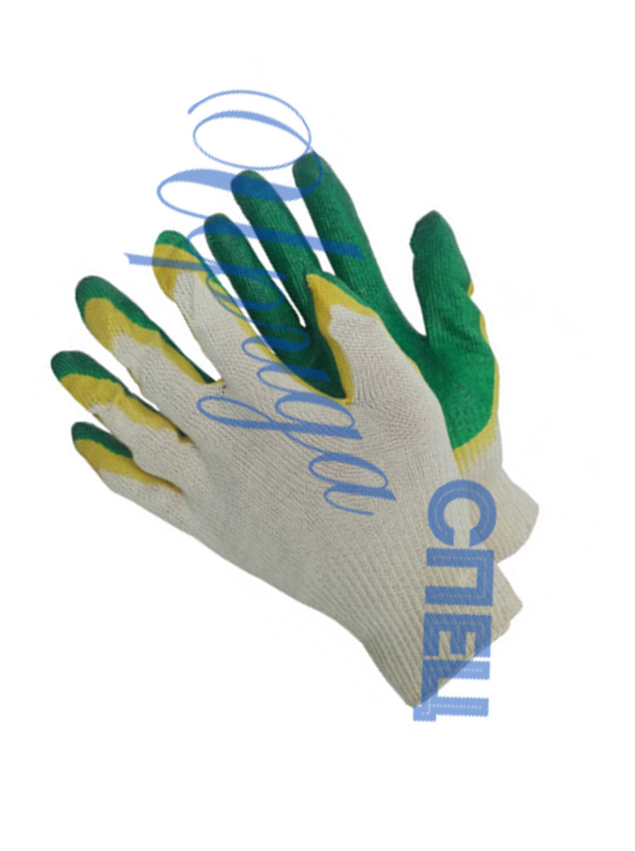 Перчатки ПВХ с покрытием двойной латекс 13 класс