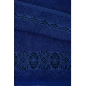 Тёмно-синее полотенце