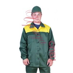 """Летний костюм рабочий с брюками """"Дамаск"""" зелёный"""