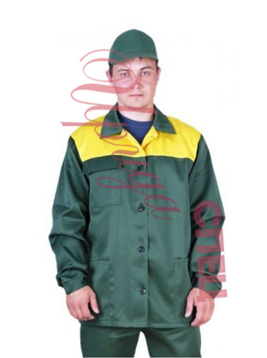 """Летний костюм рабочий с брюками """"Дамаск спец"""" зелёный"""